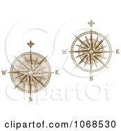Clipart Gold Compasses Royalty Free Vector Illustration