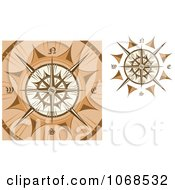 Clipart Golden Compasses 1 Royalty Free Vector Illustration