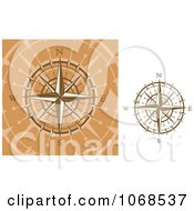 Clipart Golden Compasses 2 Royalty Free Vector Illustration