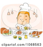 Clipart Chef Seasoning Food Royalty Free Vector Illustration