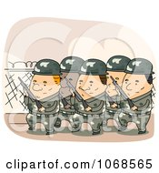 Clipart Marching Soldiers Royalty Free Vector Illustration