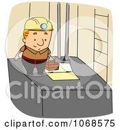 Clipart Elevator Installer Royalty Free Vector Illustration