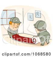 Clipart Carpet Installers Royalty Free Vector Illustration