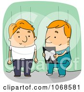 Clipart Radiology Technician And Patient Royalty Free Vector Illustration