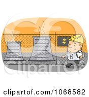 Clipart Power Plant Operator Royalty Free Vector Illustration