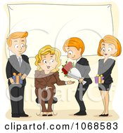 Clipart Office Party For A Retiring Businesswoman Royalty Free Vector Illustration