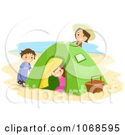 Kids Playing At A Beach Camp Site