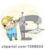 Clipart Sheet Metal Worker Royalty Free Vector Illustration