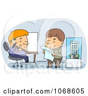 Clipart Architects Working In An Office Royalty Free Vector Illustration