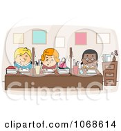 Clipart Faculty Workers Royalty Free Vector Illustration