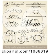 Clipart Scroll Borders And Design Elements Royalty Free Vector Illustration