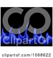 Clipart Blue Flames On Black Background Royalty Free Illustration