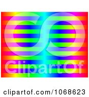 Clipart Bright Colorful Stripes Background Royalty Free Illustration