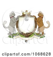 Clipart Cat Coat Of Arms Shield Royalty Free Vector Illustration