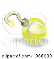 Clipart 3d Tennis Ball Bomb Royalty Free Vector Illustration by AtStockIllustration