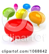 Clipart 3d Colorful Social Networking Balloons Royalty Free CGI Illustration by Julos