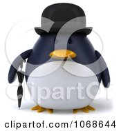 Clipart 3d Gentleman Penguin Royalty Free CGI Illustration
