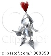 Clipart 3d Knight Holding Out His Spear 1 Royalty Free CGI Illustration