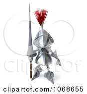 Clipart 3d Knight Standing With A Spear Royalty Free CGI Illustration