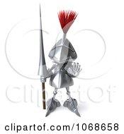 Clipart 3d Knight Halting Royalty Free CGI Illustration