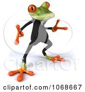 Clipart 3d Springer Frog Dancing In A Tux 4 Royalty Free CGI Illustration