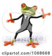 Clipart 3d Springer Frog Dancing In A Tux 2 Royalty Free CGI Illustration