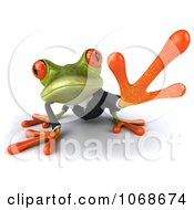 Clipart 3d Springer Frog Reaching In A Suit Royalty Free CGI Illustration