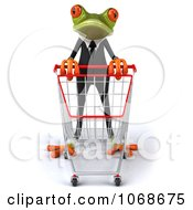 Clipart 3d Springer Frog Shopping In A Tux 1 Royalty Free CGI Illustration