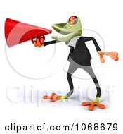 Clipart 3d Springer Frog Announcing In A Tux 2 Royalty Free CGI Illustration