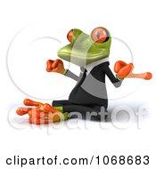 Clipart 3d Springer Frog Meditating In A Tux 2 Royalty Free CGI Illustration