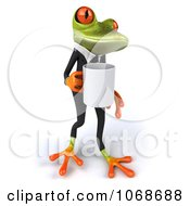 Clipart 3d Springer Frog With Coffee And A Tux 3 Royalty Free CGI Illustration