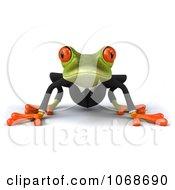 Clipart 3d Springer Frog In A Tux 1 Royalty Free CGI Illustration