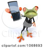 Clipart 3d Springer Frog In A Tux With A Cell Phone 3 Royalty Free CGI Illustration