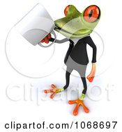 Clipart 3d Springer Frog With Coffee And A Tux 2 Royalty Free CGI Illustration