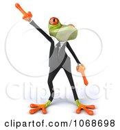 Clipart 3d Springer Frog Dancing In A Tux 1 Royalty Free CGI Illustration