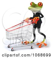 Clipart 3d Springer Frog Shopping In A Tux 2 Royalty Free CGI Illustration