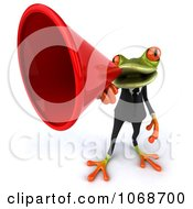 Clipart 3d Springer Frog Announcing In A Tux 3 Royalty Free CGI Illustration