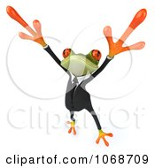 Clipart 3d Springer Frog Dancing In A Tux 3 Royalty Free CGI Illustration