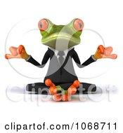 Clipart 3d Springer Frog Meditating In A Tux 1 Royalty Free CGI Illustration
