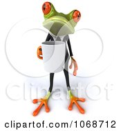 Clipart 3d Springer Frog With Coffee And A Tux 1 Royalty Free CGI Illustration