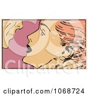 Clipart Grungy Pop Art Couple About To Kiss Royalty Free Vector Illustration by brushingup