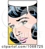 Clipart Pop Art Black Haired Woman Talking 1 Royalty Free Vector Illustration by brushingup #COLLC1068725-0171
