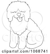 Outlined Sheepdog Sitting
