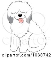 Clipart Sheepdog Sitting Royalty Free Vector Illustration by Rosie Piter