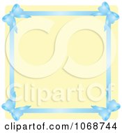Blue Ribbon Border And Beige Copyspace