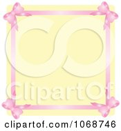 Pink Ribbon Border And Beige Copyspace