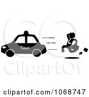 Clipart Businessman Chasing A Taxi Cab Royalty Free Vector Illustration by Rosie Piter