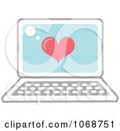 Clipart Heart And Laptop Icon Royalty Free Vector Illustration