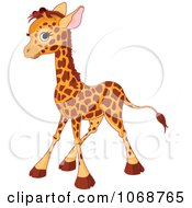 Clipart Baby Giraffe Standing Royalty Free Vector Illustration