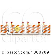 Clipart 3d Under Construction Sign And Barriers Royalty Free CGI Illustration